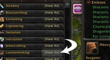 world of warcraft professions guide
