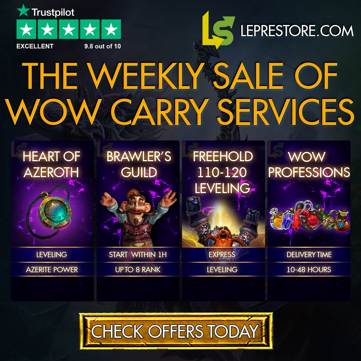 Leprestore WoW Boosting Services