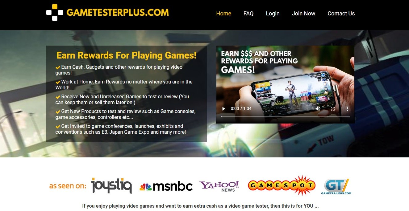 game tester plus review